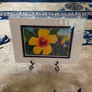 Yellow Hibiscus Watercolor Print
